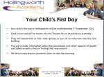 your child s first day