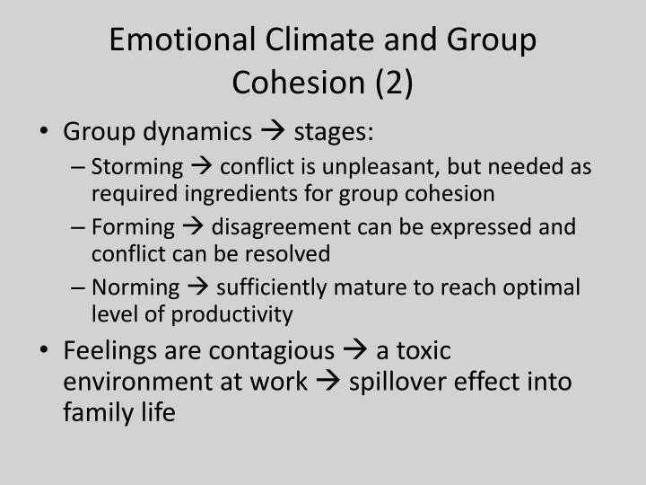 Emotional Climate and Group