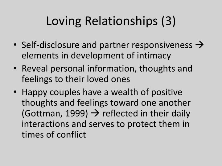 Loving Relationships (3)