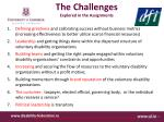 the challenges explored in the assignments