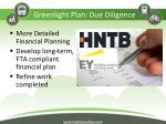 greenlight plan due diligence