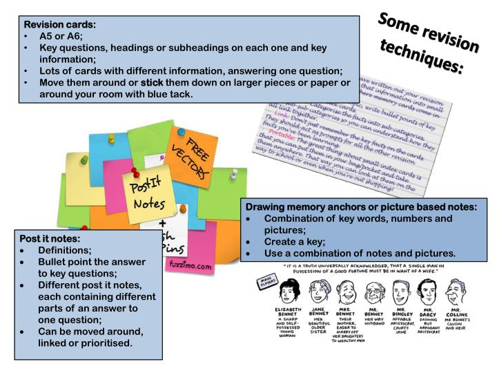 Revision cards: