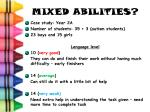 mixed abilities