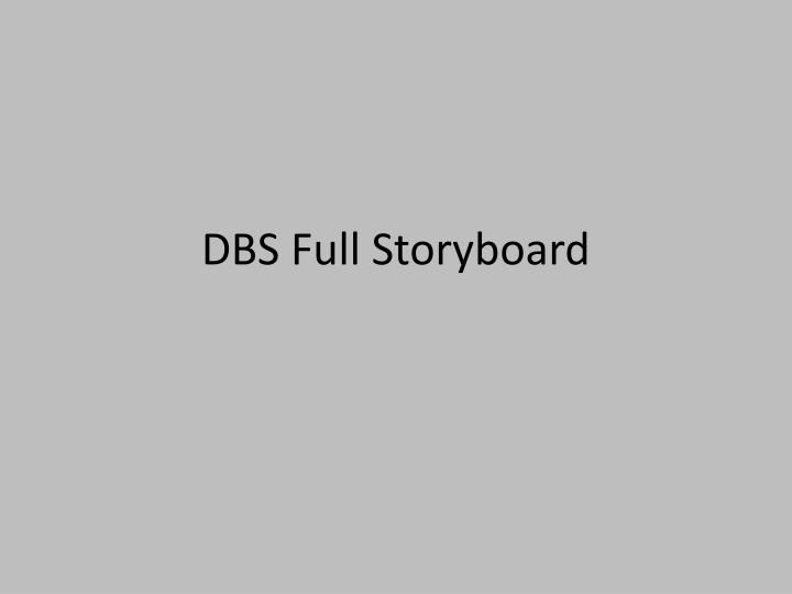 dbs full storyboard n.