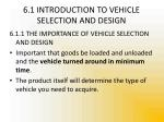 6 1 introduction to vehicle selection and design