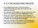 6 3 3 the budgeting process