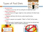 types of fad diets