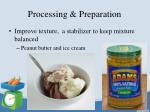 processing preparation