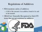 regulations of additives