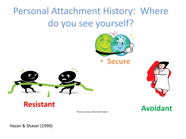 personal attachment history where do you see yourself n.