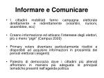 informare e comunicare