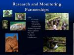 research and monitoring partnerships