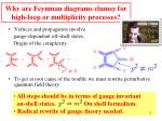 why are feynman diagrams clumsy for high loop or multiplicity processes