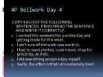 ap bellwork day 4