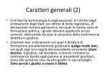 caratteri generali 2