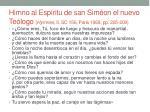 himno al esp ritu de san sim on el nuevo te logo hymnes ii sc 156 paris 1969 pp 205 209
