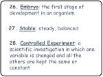 26 embryo the first stage of development in an organism