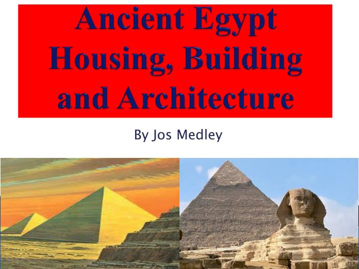 ancient egypt housing building and architecture n.