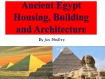 ancient egypt housing building and architecture