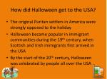 how did halloween get to the usa