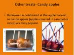 other treats candy apples