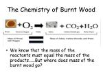the chemistry of burnt wood