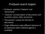 proquest search targets