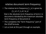 relative document term frequency