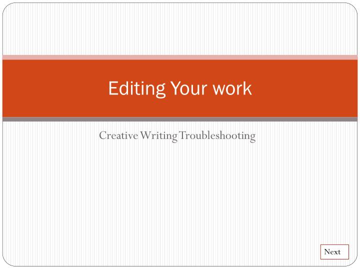 editing your work n.