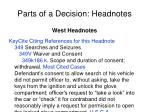parts of a decision headnotes1