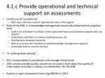 4 1 c provide operational and technical support on assessments