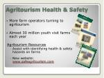 agritourism health safety