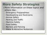 more safety strategies