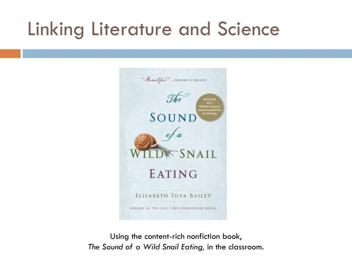 linking literature and science n.