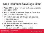 crop insurance coverage 2012