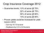crop insurance coverage 20121