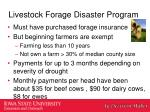 livestock forage disaster program