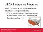 usda emergency programs