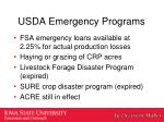 usda emergency programs1