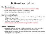 bottom line upfront