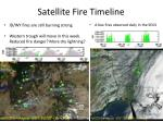 satellite fire timeline