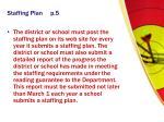 staffing plan p 5