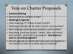 vote on charter proposals4