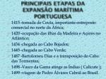 principais etapas da expans o mar tima portuguesa