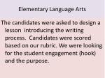 elementary language arts
