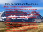 plate tectonics and mountains