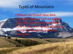 types of mountains2