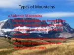 types of mountains5