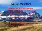 types of mountains6
