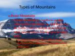 types of mountains7